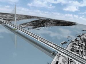 Projakt mosta preko Ade